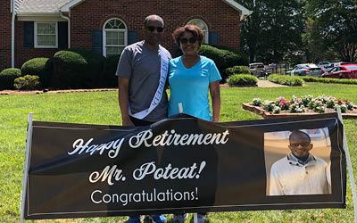 Poteat retires